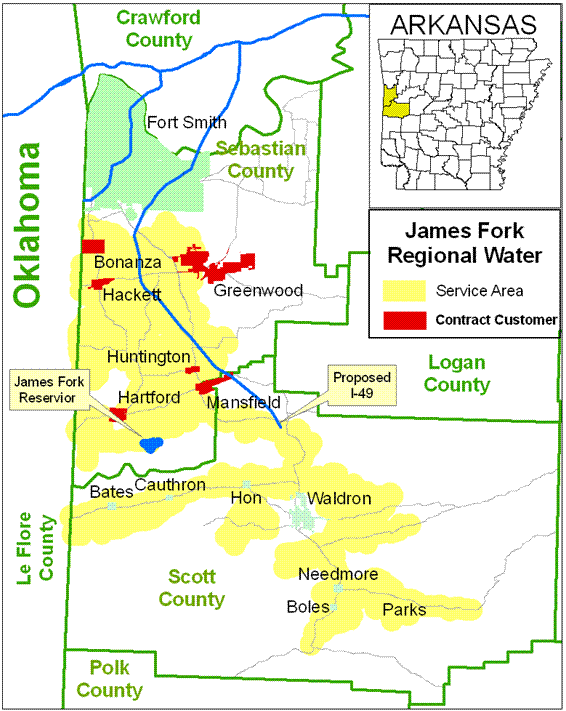 James Fork Water Service Area Map